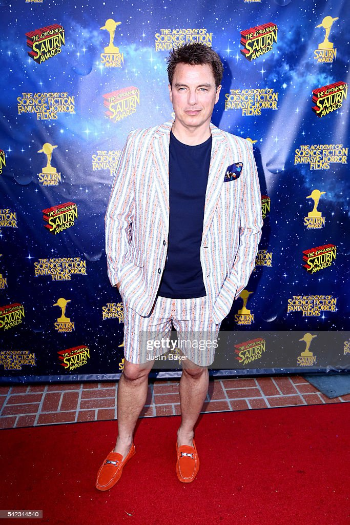 Actor John Barrowman arrives for the 42nd Annual Saturn Awards at The Castaway on June 22, 2016 in Burbank, California.