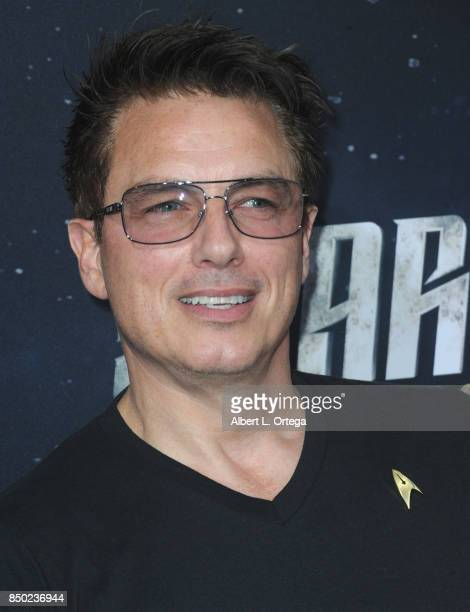 Actor John Barrowman arrives for the Premiere Of CBS's 'Star Trek Discovery' held at The Cinerama Dome on September 19 2017 in Los Angeles California
