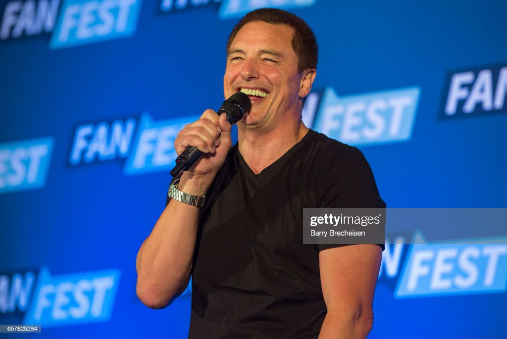 Actor John Barrowman during the Walker Stalker Con Chicago at the Donald E. Stephens Convention Center on March 25, 2017, in Rosemont, Illinois.