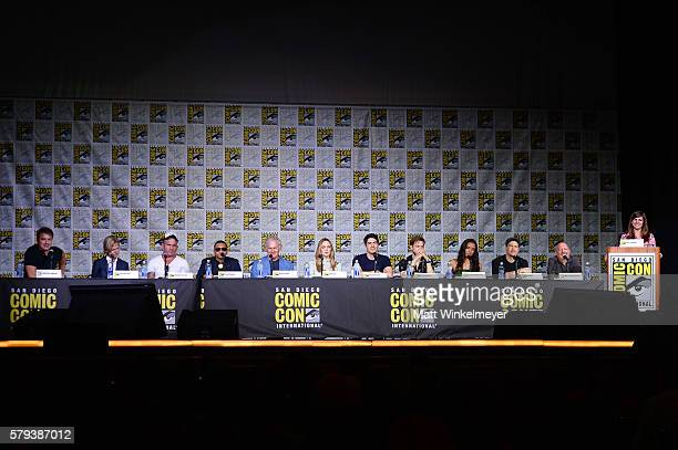 Actor John Barrowman screenwriter Phil Klemmer actors Dominic Purcell Franz Drameh Victor Garber Caity Lotz Brandon Routh Arthur Darvill Maisie...