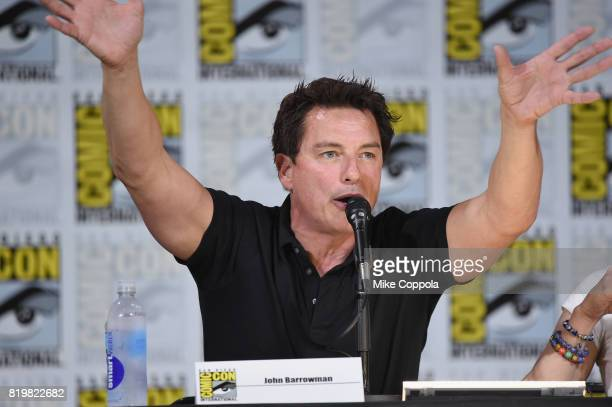 Actor John Barrowman speaks onstage at SYFY hosts The Great Debate during ComicCon International 2017 at San Diego Convention Center on July 20 2017...