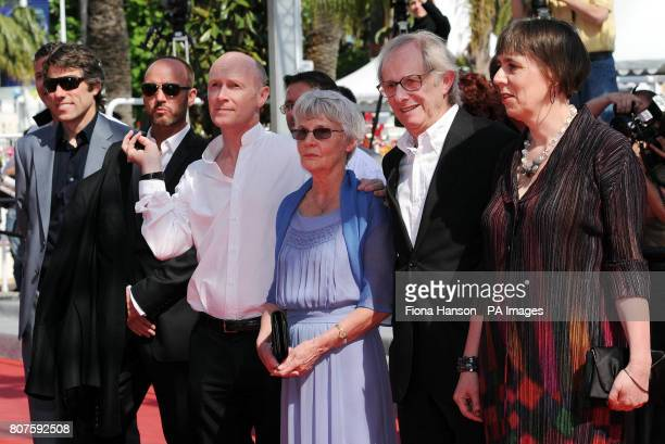 Actor John Bishop actor Mark Womack screenwriter Paul Laverty wife of the director Lesley Ashton director Ken Loach and producer Rebecca O'Brien...