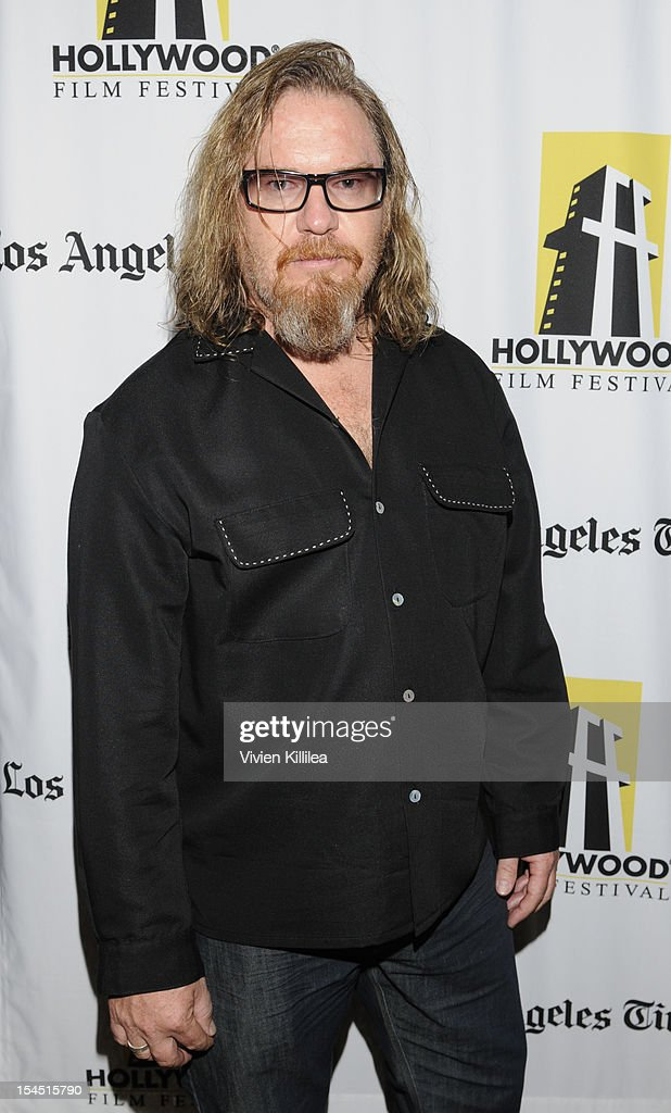 Actor <a gi-track='captionPersonalityLinkClicked' href=/galleries/search?phrase=John+Bishop+-+Actor&family=editorial&specificpeople=7360807 ng-click='$event.stopPropagation()'>John Bishop</a> attends 16th Annual Hollywood Film Festival - 'Thriftstore Cowboy' Premiere at ArcLight Hollywood on October 20, 2012 in Hollywood, California.