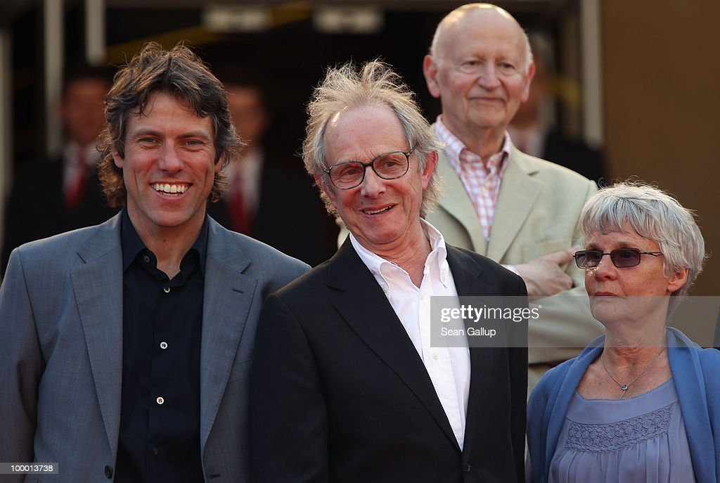 Actor John Bishop, Director Ken Loach and wife Lesley Ashton attend the 'Route Irish' Premiere at the Palais des Festivals during the 63rd Annual Cannes Film Festival on May 20, 2010 in Cannes, France.