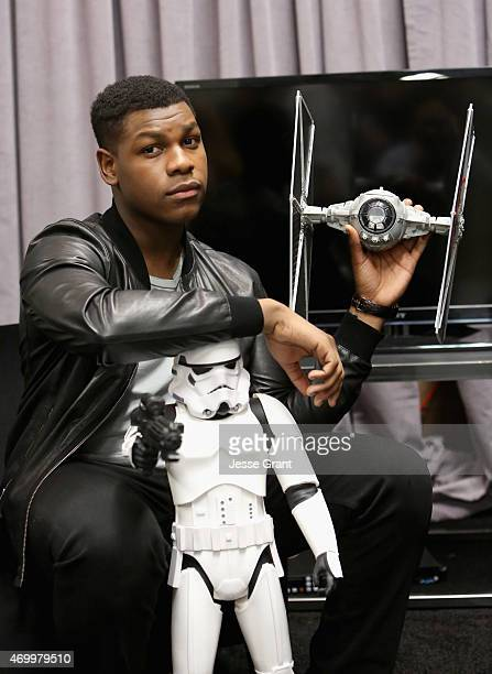 Actor John Boyega attends Star Wars Celebration 2015 on April 16 2015 in Anaheim California