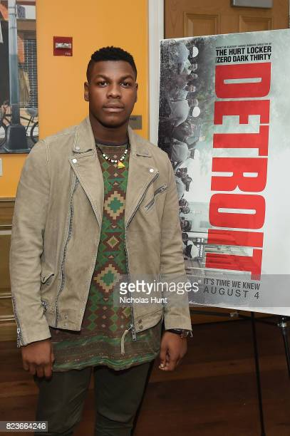 Actor John Boyega attends the Detroit special screening at the Crosby Street Hotel on July 27 2017 in New York City