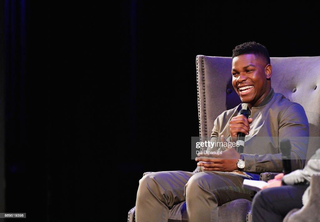 Actor John Boyega onstage at 'Detroit' Q&A during 20th Anniversary SCAD Savannah Film Festival on November 2, 2017 in Savannah, Georgia.