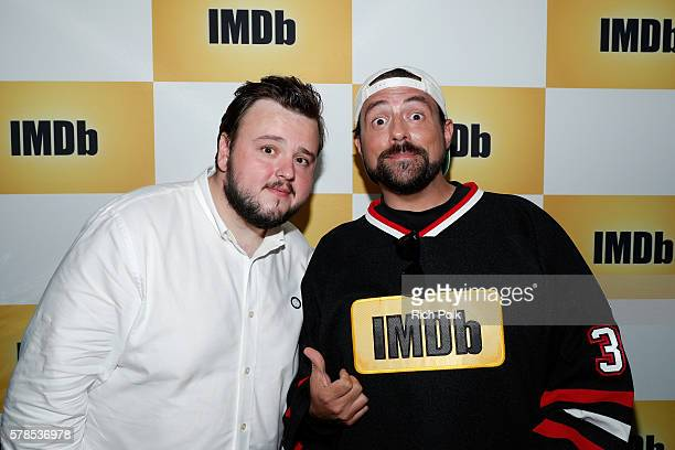 Actor John Bradley and host Kevin Smith attend the IMDb Yacht at San Diego ComicCon 2016 Day One at The IMDb Yacht on July 21 2016 in San Diego...