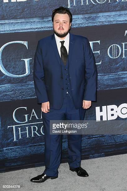 Actor John Bradley arrives at the premiere of HBO's 'Game of Thrones' Season 6 at the TCL Chinese Theatre on April 10 2016 in Hollywood California