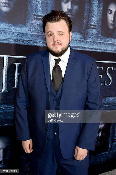 Actor John Bradley attends the premiere for the sixth season of HBO's 'Game Of Thrones' at TCL Chinese Theatre on April 10 2016 in Hollywood City