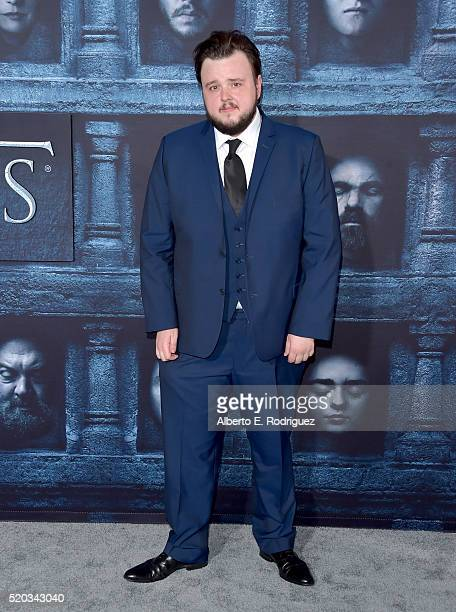 Actor John Bradley attends the premiere of HBO's 'Game Of Thrones' Season 6 at TCL Chinese Theatre on April 10 2016 in Hollywood California