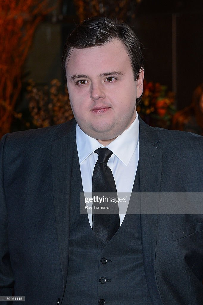 Actor John Bradley leaves a Midtown Manhattan hotel on March 18, 2014 in New York City.