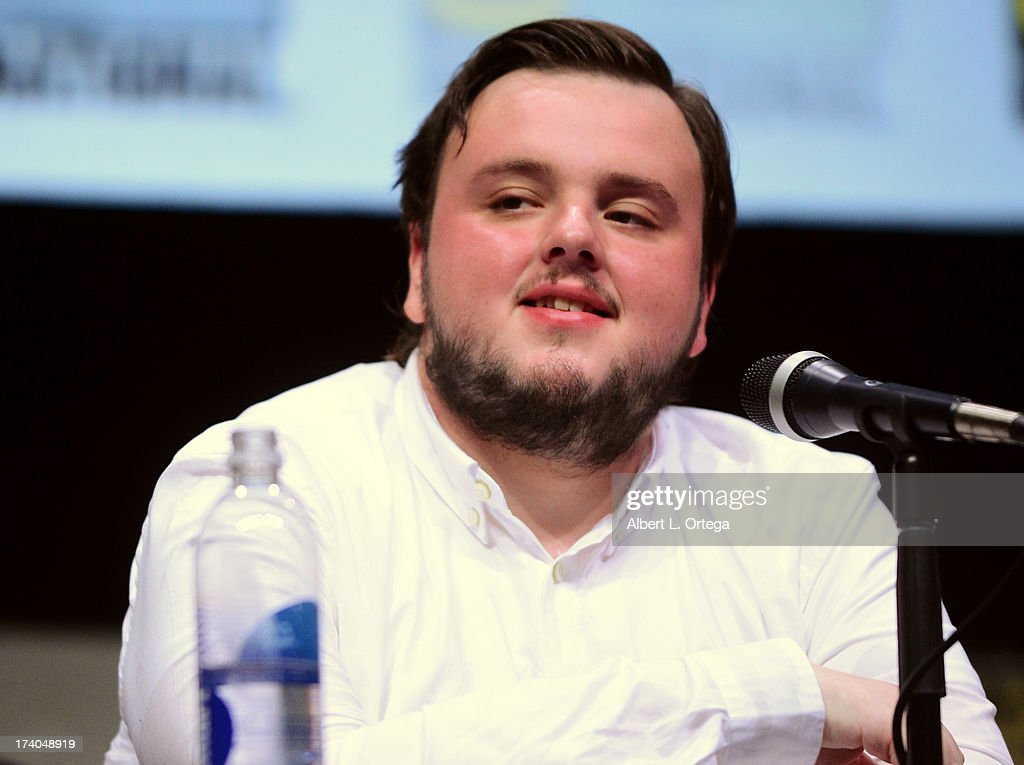 Actor John Bradley speaks onstage during the 'Game Of Thrones' panel during Comic-Con International 2013 at San Diego Convention Center on July 19, 2013 in San Diego, California.