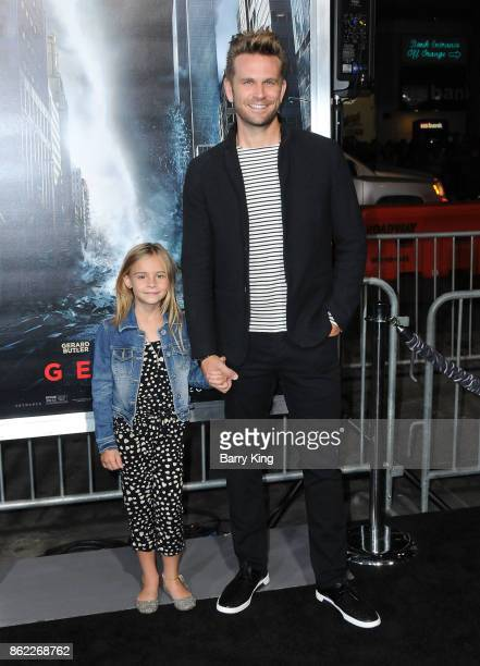 Actor John Brotherton and daughter Shia Bellatrix Brotherton attend the premiere of Warner Bros Pictures' 'Geostorm' at TCL Chinese Theatre on...