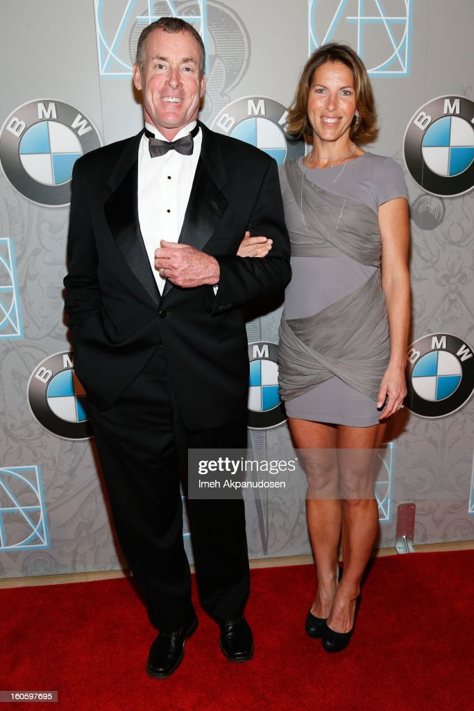 Actor John C. McGinley (L) and his wife, Nichole McGinley, attend the 17th Annual Art Directors Guild Awards For Excellence In Production Design at The Beverly Hilton Hotel on February 2, 2013 in Beverly Hills, California.