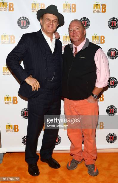 Actor John C Reilly and chef Mario Batali attend 6th Annual Mario Batali Foundation Honors dinner at Del Posto on October 15 2017 in New York City