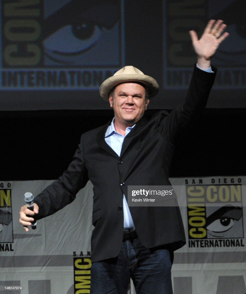 Actor <a gi-track='captionPersonalityLinkClicked' href=/galleries/search?phrase=John+C.+Reilly&family=editorial&specificpeople=210786 ng-click='$event.stopPropagation()'>John C. Reilly</a> speaks at the 'Wreck-It Ralph' panel during Comic-Con International 2012 at San Diego Convention Center on July 12, 2012 in San Diego, California.
