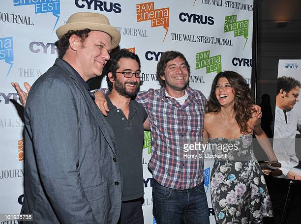 Actor John C Reilly writer/director Jay Duplass writer/director Mark Duplass and actress Marisa Tomei attend the 2010 BAMcinemaFEST Opening Night...