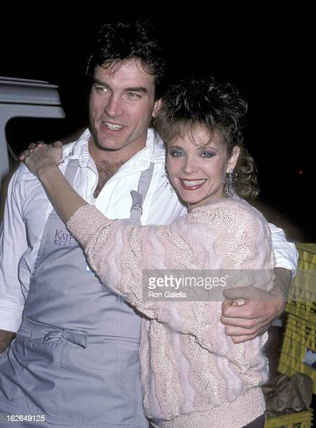 Actor John Callahan and actress Shelley Taylor Morgan attend the Love Is Feeding Everyone Benefit on February 11 1986 at Kathy Gallagher's Restaurant...