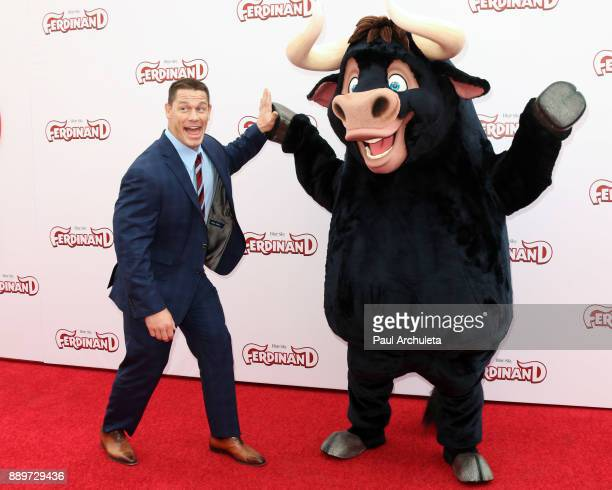 Actor John Cena attends the screening of 'Ferdinand' at The Zanuck Theater at 20th Century Fox Lot on December 10 2017 in Los Angeles California
