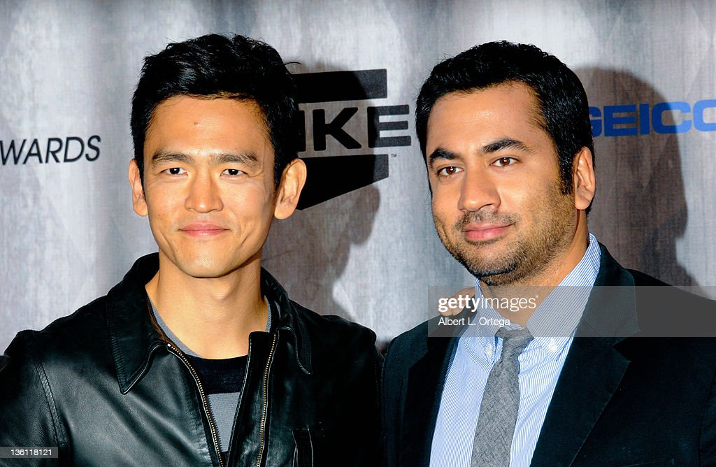 Actor John Cho and actor Kal Penn arrive at Spike TV's 'Scream Awards 2011' at Universal Studios Backlot on October 15, 2011 in Universal City, California.