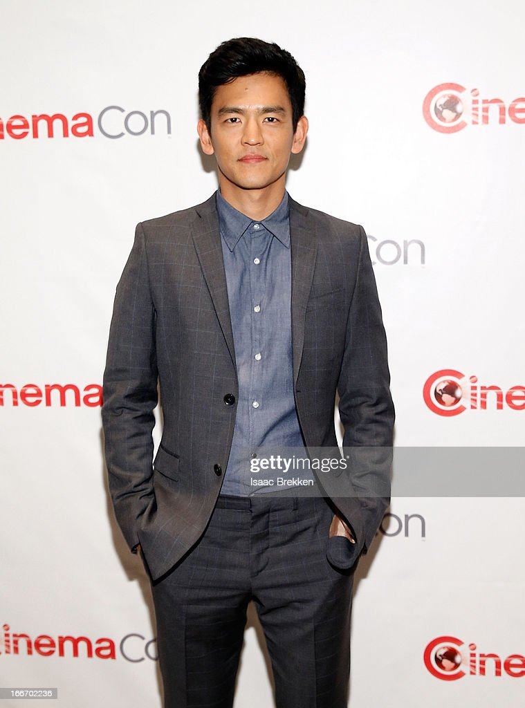 Actor John Cho arrives at a Paramount Pictures presentation to promote his upcoming film, 'Star Trek Into Darkness' during CinemaCon at Caesars Palace on April 15, 2013 in Las Vegas, Nevada.