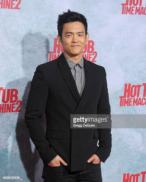 Actor John Cho arrives at the Los Angeles premiere of 'Hot Tub Time Machine 2' at Regency Village Theatre on February 18 2015 in Westwood California