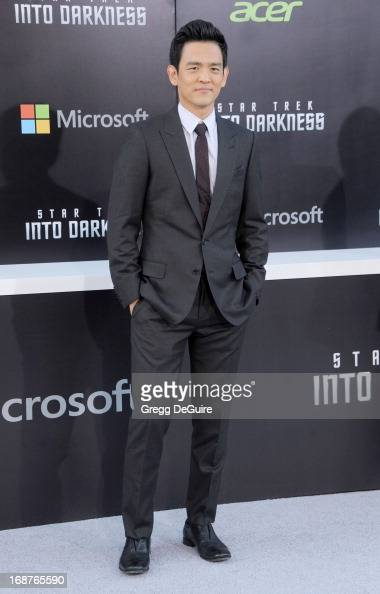 Actor John Cho arrives at the Los Angeles premiere of 'Star Trek Into Darkness' at Dolby Theatre on May 14 2013 in Hollywood California