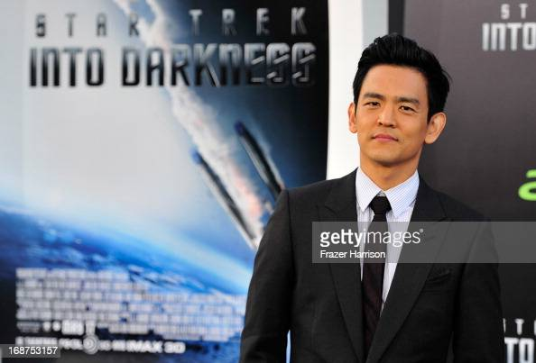 Actor John Cho arrives at the premiere of Paramount Pictures' 'Star Trek Into Darkness' at Dolby Theatre on May 14 2013 in Hollywood California
