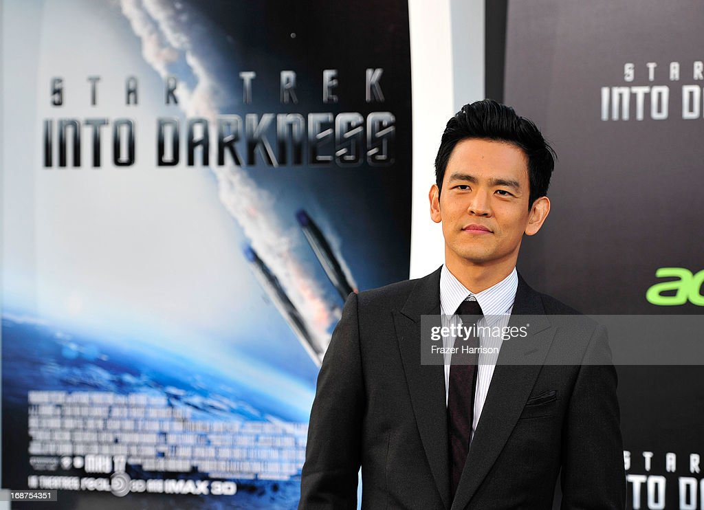 Actor John Cho arrives at the premiere of Paramount Pictures' 'Star Trek Into Darkness' at the Dolby Theatre on May 14, 2013 in Hollywood, California.
