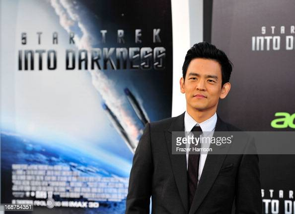 Actor John Cho arrives at the premiere of Paramount Pictures' 'Star Trek Into Darkness' at the Dolby Theatre on May 14 2013 in Hollywood California