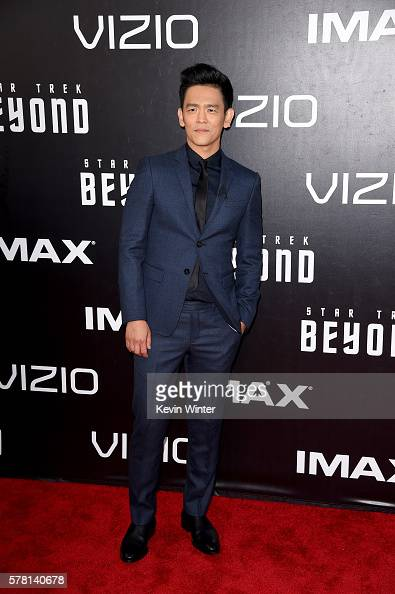 Actor John Cho attends the premiere of Paramount Pictures' 'Star Trek Beyond' at Embarcadero Marina Park South on July 20 2016 in San Diego California