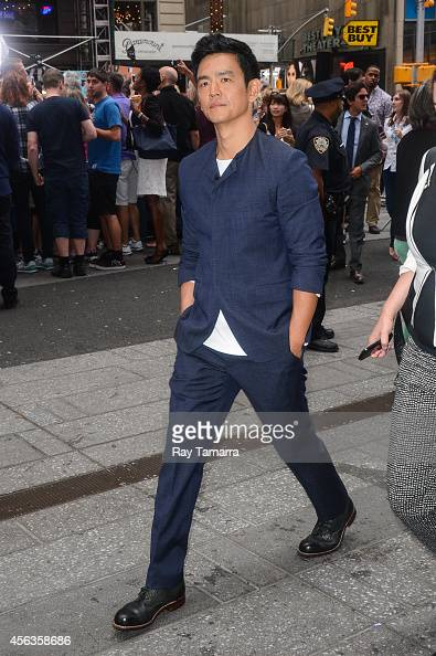 Actor John Cho leaves the 'Good Morning America' taping at the ABC Times Square Studios on September 29 2014 in New York City