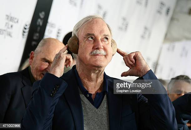 Actor John Cleese attends the 'Monty Python And The Holy Grail' Special Screening during the 2015 Tribeca Film Festival at Beacon Theatre on April 24...