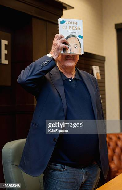 Actor John Cleese discusses his new book 'So Anyway' at Barnes Noble bookstore at The Grove The Grove on November 21 2014 in Los Angeles California