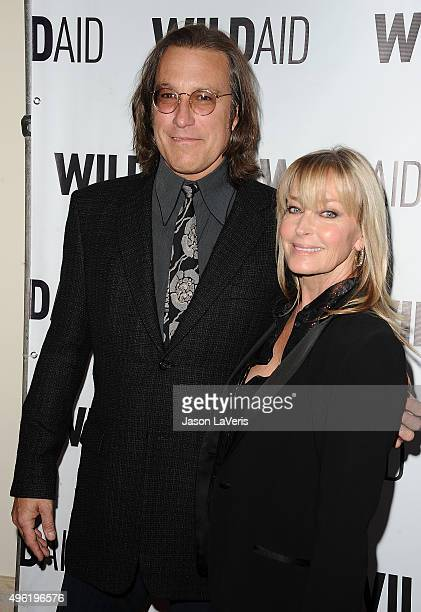 Actor John Corbett and actress Bo Derek attend WildAid 2015 at Montage Hotel on November 7 2015 in Beverly Hills California