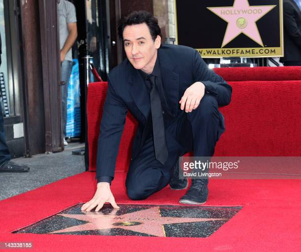 Actor John Cusack is honored with a Star on the Hollywood Walk of Fame on April 24 2012 in Hollywood California