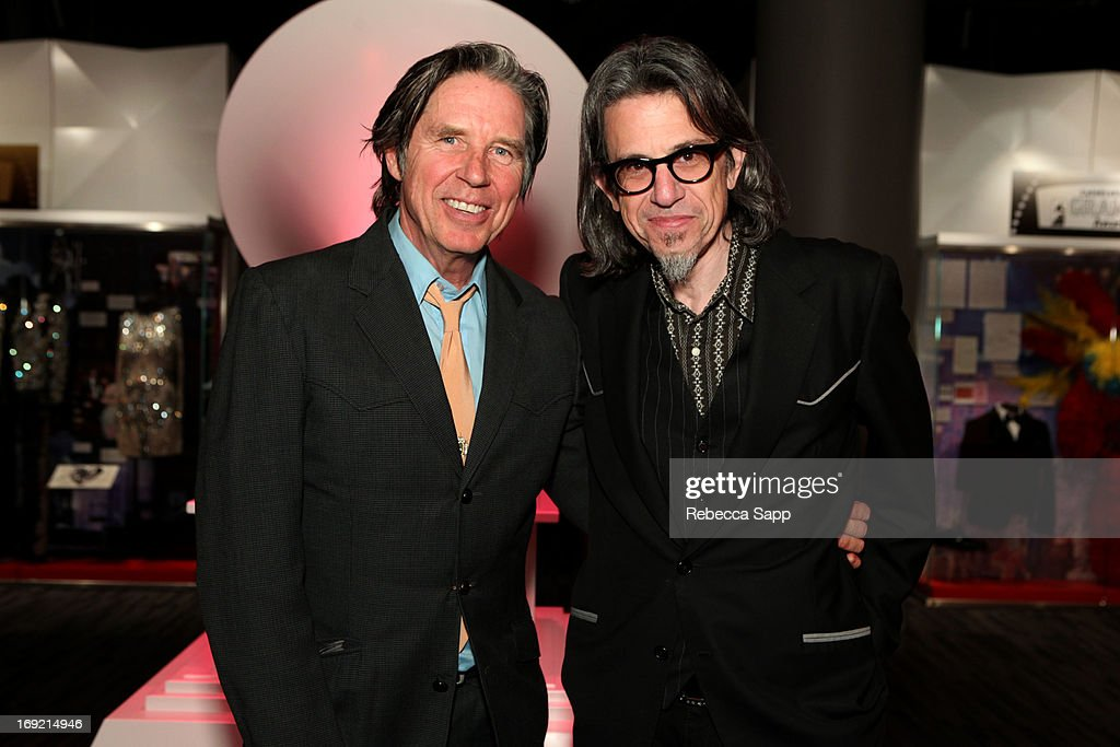 Actor John Doe and Vice President of the GRAMMY Foundation Scott Goldman at Reel to Reel: Ring of Fire with Jewel at The GRAMMY Museum on May 21, 2013 in Los Angeles, California.