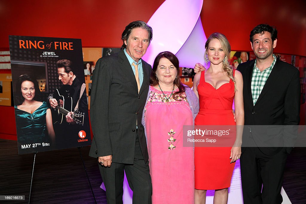 Actor John Doe, director Allison Anders, singer Jewel and Executive Vice President of Lifetime Television Robert Sharenow at Reel to Reel: Ring of Fire with Jewel at The GRAMMY Museum on May 21, 2013 in Los Angeles, California.
