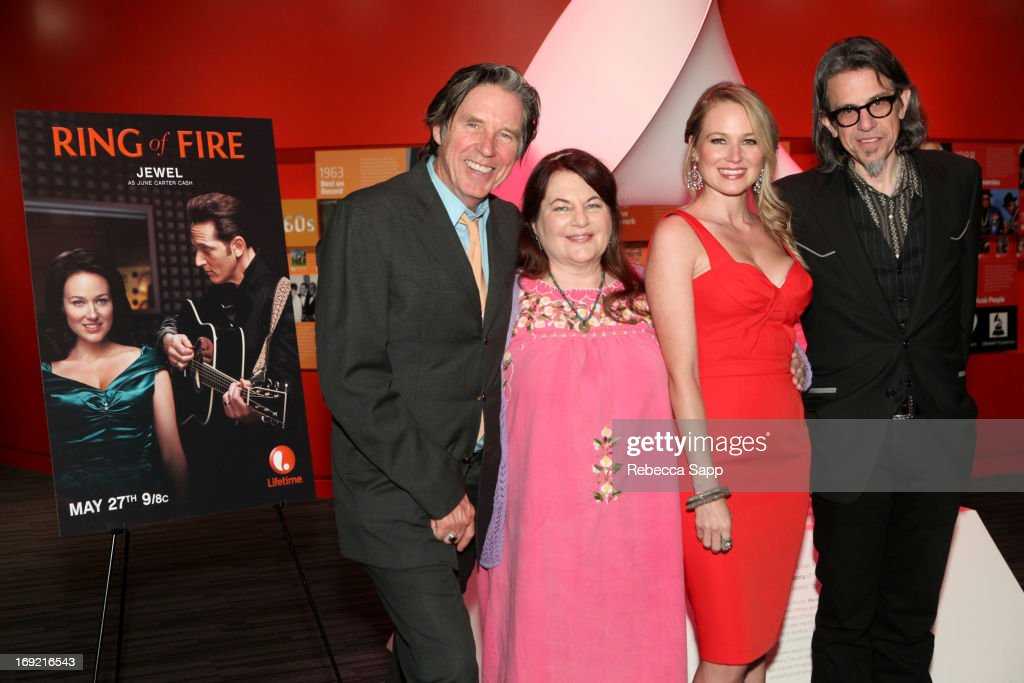 Actor John Doe, director Allison Anders, singer Jewel and Vice President of the GRAMMY Foundation Scott Goldman at Reel to Reel: Ring of Fire with Jewel at The GRAMMY Museum on May 21, 2013 in Los Angeles, California.
