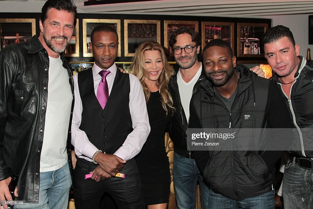 Actor John Enos, Comedian Tommy Davidson, Singer Taylor Dayne, Jazz musician Al Di Meola and DJ Irie & No Mercy Marty Cintron at Dore Restaurant and Lounge on March 27, 2013 in Miami Beach, Florida.