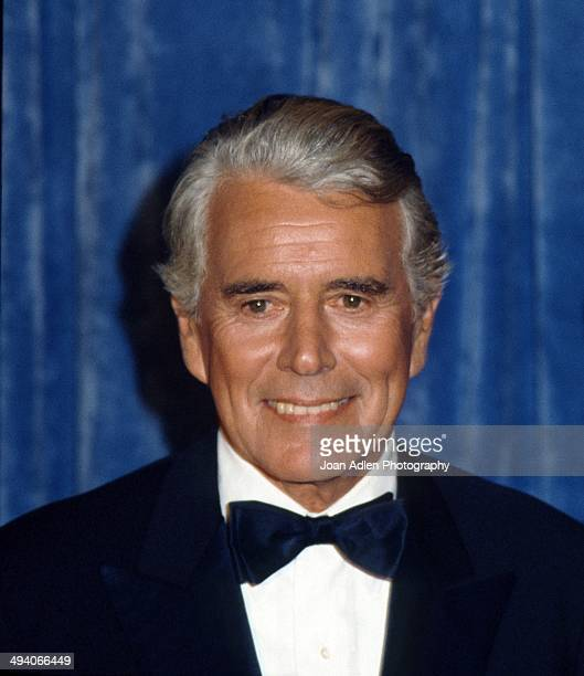Actor John Forsythe attends the 35th Annual Primetime Emmy Awards held at the Pasadena Civic Auditorium on September 25 1983 in Pasadena California