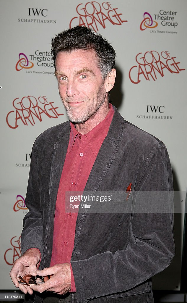 Actor John Glover poses during the arrivals for the opening night performance of 'God of Carnage' at Center Theatre Group's Ahmanson Theatre on April 13, 2011 in Los Angeles, California.