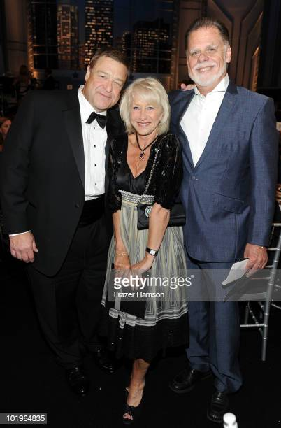 Actor John Goodman actress Helen Mirren and husband Director Taylor Hackford in the audience at the 38th AFI Life Achievement Award honoring Mike...