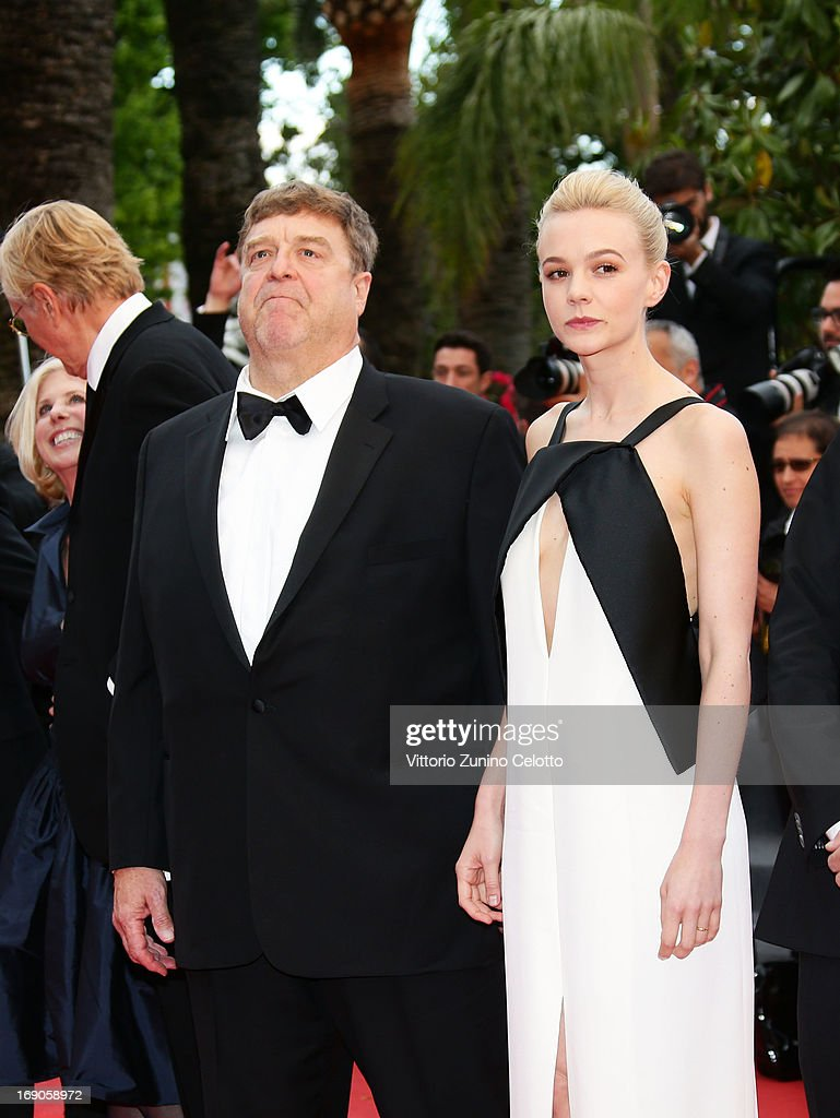 Actor John Goodman and actress Carey Mulligan attend 'Inside Llewyn Davis' Premiere during the 66th Annual Cannes Film Festival at Palais des Festivals on May 19, 2013 in Cannes, France.