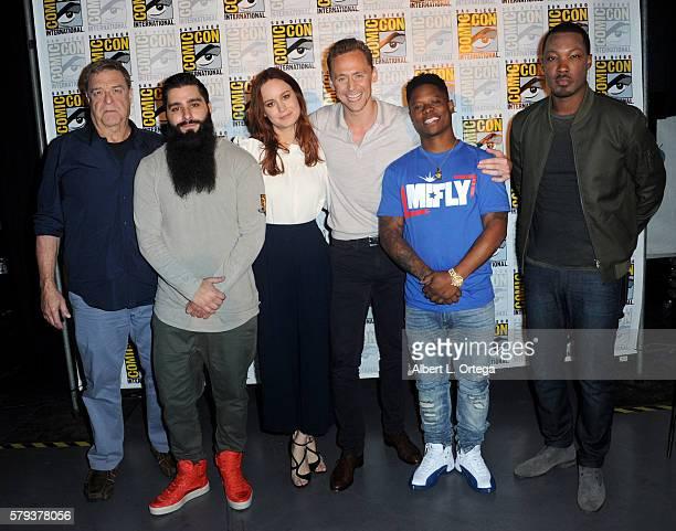 Actor John Goodman director Jordan VogtRoberts actors Brie Larson Tom Hiddleston Jason Mitchell and Corey Hawkins of 'Kong Skull Island' attend the...