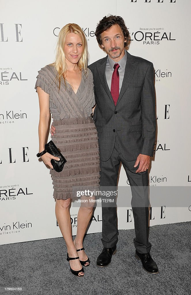 Actor <a gi-track='captionPersonalityLinkClicked' href=/galleries/search?phrase=John+Hawkes+-+Actor&family=editorial&specificpeople=224944 ng-click='$event.stopPropagation()'>John Hawkes</a> (at right) and guest arrive at ELLE's 18th Annual Women in Hollywood Tribute held at the Four Seasons Hotel on October 17, 2011 in Los Angeles, California.