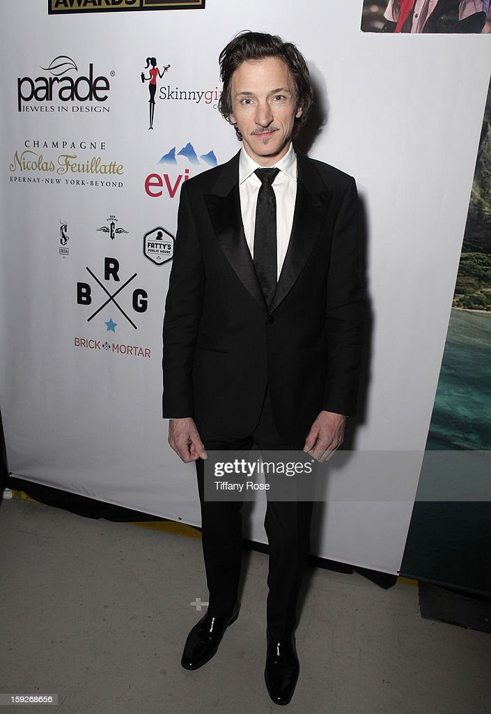 Actor John Hawkes attends the Critics' Choice Movie Awards 2013 with Evian at Barker Hangar on January 10, 2013 in Santa Monica, California.