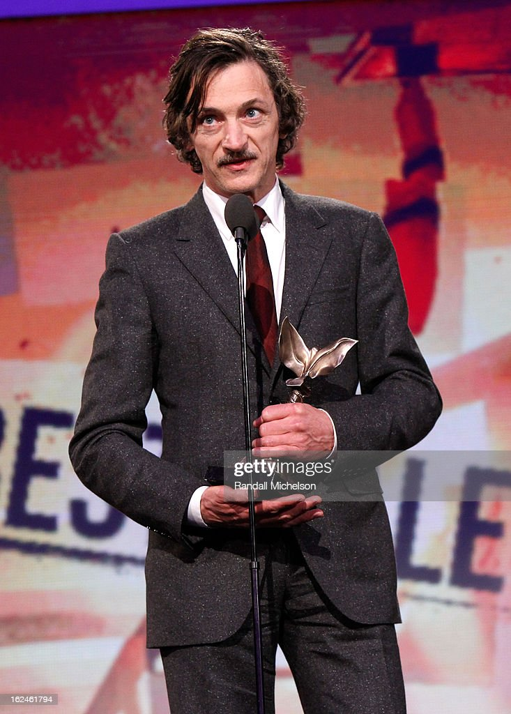 Actor <a gi-track='captionPersonalityLinkClicked' href=/galleries/search?phrase=John+Hawkes+-+Actor&family=editorial&specificpeople=224944 ng-click='$event.stopPropagation()'>John Hawkes</a> onstage during the 2013 Film Independent Spirit Awards at Santa Monica Beach on February 23, 2013 in Santa Monica, California.