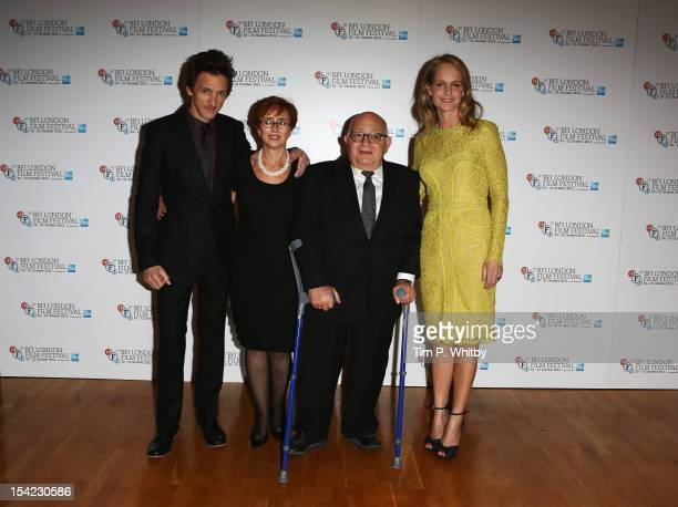 Actor John Hawkes producer Judi Levine director Ben Lewin and actress Helen Hunt attend the Premiere of 'The Sessions' during the 56th BFI London...